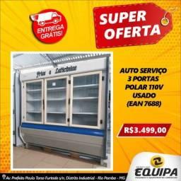 Auto serviço 3 portas, Polar, 110v - Usado