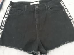 Short pool jeans número 44 cintura alta