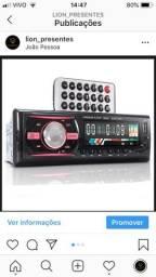 Auto Radio Som automotivo Bluetooth MP3 Player USB + controle
