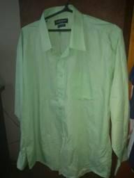 Camisa social verde manga comprida Cia do Terno 5bc64ac5a96a2