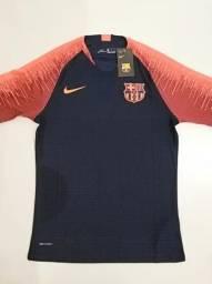 Camisa Barcelona Treino Laranja Player 18 19 - M 3729b49053c67
