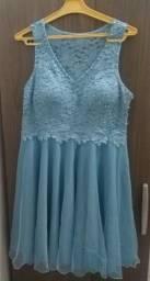 Vestido azul + brinde