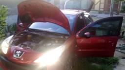 Carro peugeot vermelho completo de tudo 2010 flex 1.4