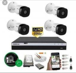 Kit cftv 4 Câmeras Intelbras Full Hd + Dvr mhdx 3104 + hd 500gb comprar usado  Natal