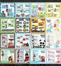 Etiquetas escolares Todos os Temas (Brinde Chaveiro Personalizado) comprar usado  Feira De Santana