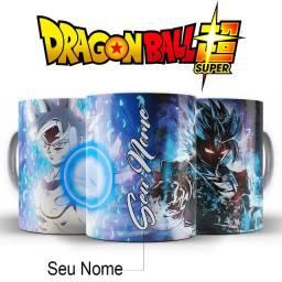 Dragon Ball Super Goku Blue Caneca Com Nome Para Fãs