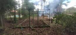 Estrutura metálica para estufa agricula