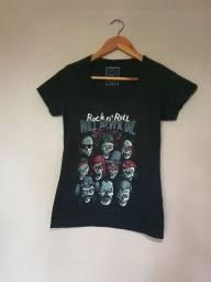 Blusa Preta Rock n' Roll Will Never Die