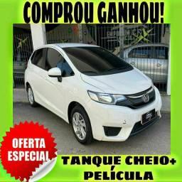 TANQUE CHEIO SO NA EMPORIUM CAR!!! HONDA FIT LX 1.5 ANO 2016 COM MIL DE ENTRADA