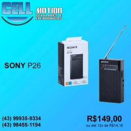 Rádio portátil AM/FM Sony ICF-P26