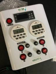 Painel de Tomadas Profissional para Controle de Aquários Modelo PCT²-8