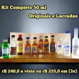 Título do anúncio: KIT Miniaturas de Whisky, Vodka e Cachaça - 50ml - Original e Lacrada