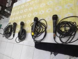 Título do anúncio: Microfones com fio