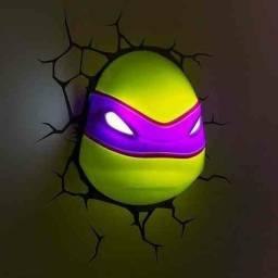 Luminária 3D Tartarugas Ninja- Rosto de Donatello