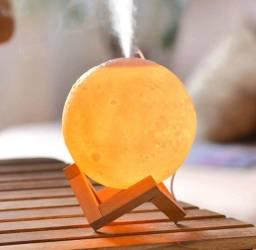 Título do anúncio: Luminária umidificador lua cheia 3D