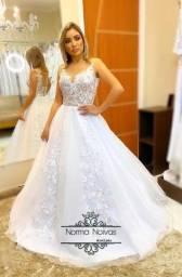 Título do anúncio: Vestido de noiva princesa, sereia reservas zap 73 999-344400