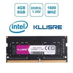 Memória DDR3 L 1.35v 4gb 8gb notebook 1600mhz, até 12x no cartão
