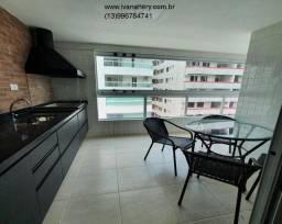 Título do anúncio: Lindo apartamento com varanda gourmet, mobiliado, no centro de Mongaguá