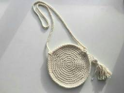 Título do anúncio: Bolsa Crochet Boho Branca