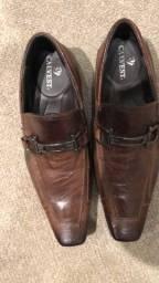 Título do anúncio: Sapato de couro marrom tamanho 40