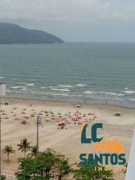 Título do anúncio: Apartamento Residencial de Frente Para Praia no Gonzaga Santos com Vista Linda e Ampla da