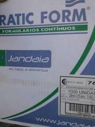 Título do anúncio: Formulário Contínuo autocopiativo br. 80 colunas, 3 vias (cópia preta). Caixa nova fechada