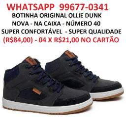 Título do anúncio: 4 x s/ juros no cartão sem juros__botinha ollie dunk original_nova_número 40