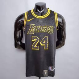 Título do anúncio: Regata NBA Lakers Manba Negra 24 Bryant