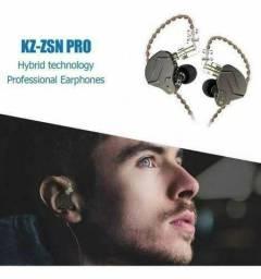 Fone de ouvido Retorno Profissional Kz Zsn Pro (Novo, aceito cartão)
