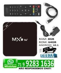 TvBox Conversor 4k Mx9 Pro 5G Android 10.1 8GB 64GB Wi-fi 2,4/5G
