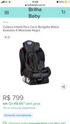 Cadeira para carro Matrix Evolution Burigotto até 25kg.