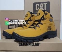 Título do anúncio: Bota Masculina cat Cor amarelo Couro nobock Lançamento,  N38 ao N44
