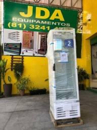 Refrigerador vertical 284 litros porta de vidro - ideal para bebidas - 2 anos de garantia