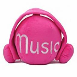 Porta CD Boneco Cute Short Plush Headset Ball Style Cd Stor Pronta Entrega