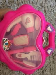 Maleta/Kit infantil com acessórios para cabelo