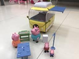 Van de acampamento - ônibus da peppa pig