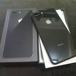 Iphone 8 plus preto 64gb completo