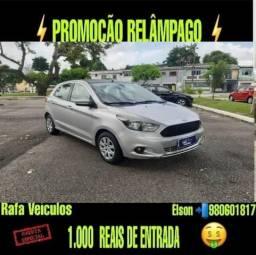 Promoção relâmpago ford ka 1.0 se 2015 com r$ 1.000 mil de entrada - 2018