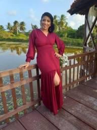 Vestido de festa Madrinha marsala R$120 PRA VENDER HOJEEE