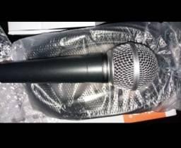 Microfone profissional com fio 5 metros