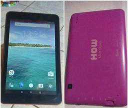 Tablet how 8giga , 7 polegadas, acompanha carregador R$ 160,00