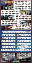 Coleção carrinhos Hot Wheels ano 2005 + pôster
