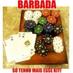 Kit 115 Fichas de Poker / Cassino + Baralho Copag Original [BARBaDA!]