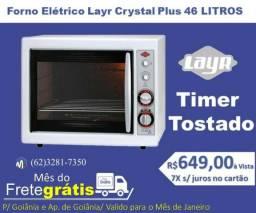 Forno Elétrico Layr Crystal Plus 46 Litros Timer Tostador