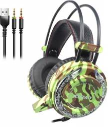Fone Ouvido Headset Gamer Led Microfone-(Entrega Gratuita)