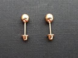 Brinco de ouro 18k - Bolinha 4mm