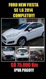 Vendo Ford New Fiesta SE 1.6 2014 COMPLETO!!! - 2014
