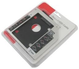 Gaveta Caddy DVD Adaptador Para Segundo HD Ou SSD Cady Driver CD - Loja Natan Abreu