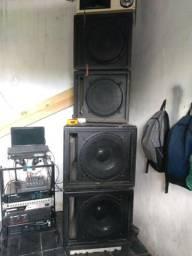 Equipamento de som de alta qualidade