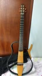 Violão Yamaha Silent SLG110s (Flat, vazado, aço)